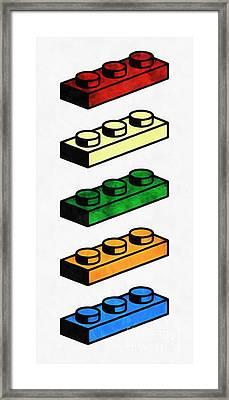 Lego Pop Art Framed Print