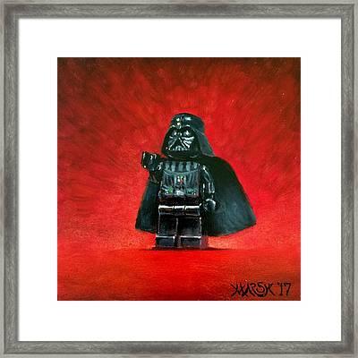 Lego Vader Framed Print