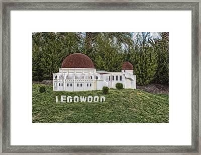 Legowood Framed Print