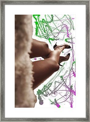 Legs And Art Framed Print