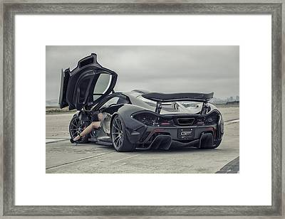 #mclaren #mso #p1 #wheels And #heels Framed Print