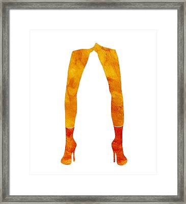 Legs Of A Fashion Model Framed Print by Frank Tschakert