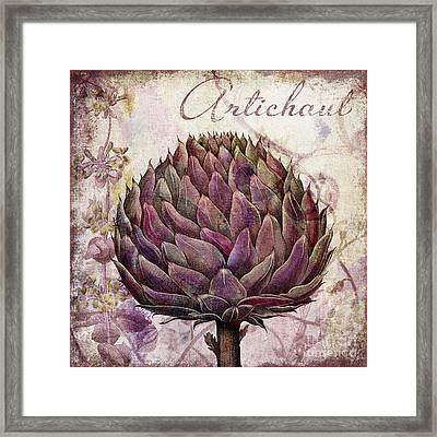 Legumes Francais Artichoke Framed Print