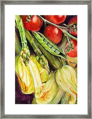 Legumes Framed Print by Muriel Dolemieux