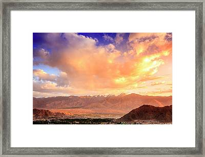 Framed Print featuring the photograph Leh, Ladakh by Alexey Stiop