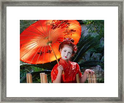 Framed Print featuring the photograph Leia by Nancy Bradley