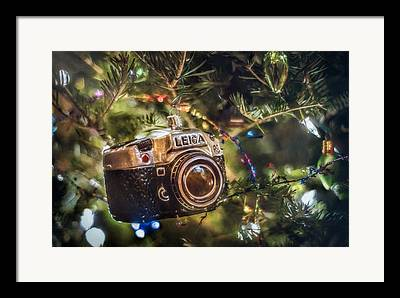 Christmas Lights Photographs Framed Prints