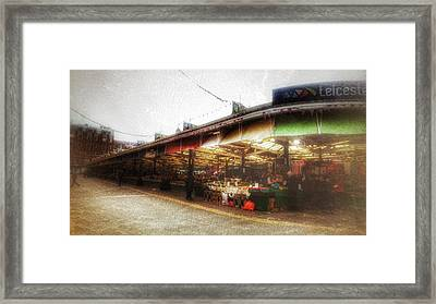 Framed Print featuring the photograph Leicester Market by Isabella F Abbie Shores FRSA