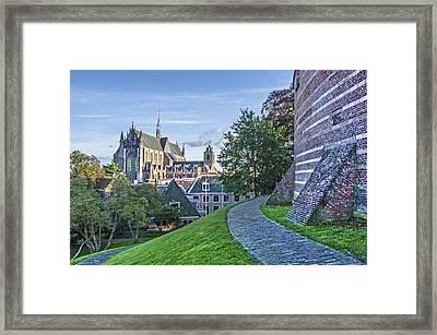 Leiden, The Church And The Castle Framed Print