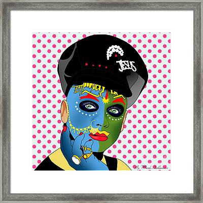 Leigh Bowery 2 Framed Print by Mark Ashkenazi
