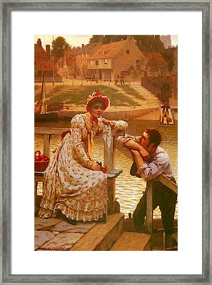 Leighton Edmund Blair Courtship Framed Print
