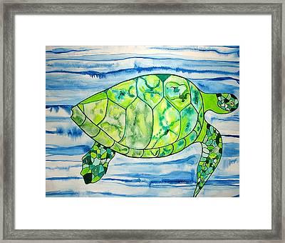 Leilani The Hawaiian Sea Turtle Framed Print