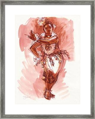 Lelei, Dancer Of Tonga Framed Print