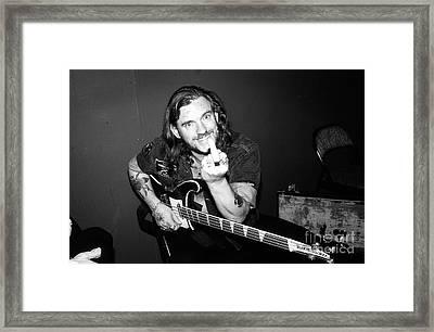 Lemmy Kilmister - Motorhead 1980's Candid Backstage 10b Framed Print