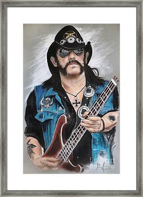 Lemmy Framed Print by Melanie D