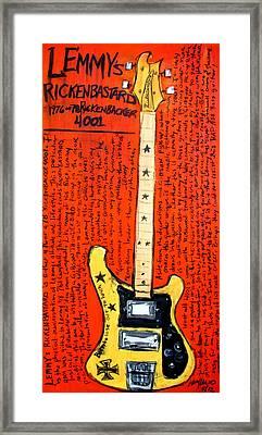 Lemmy's Rickenbacker 4001 Rickenbastard Framed Print by Karl Haglund