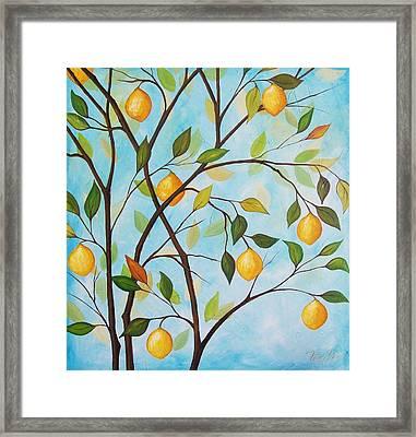 Lemom Tree Framed Print by Peggy Davis