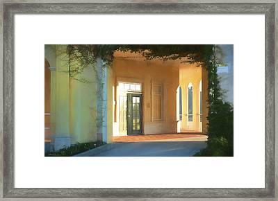 Lemon Arches Tangerine Walls Framed Print