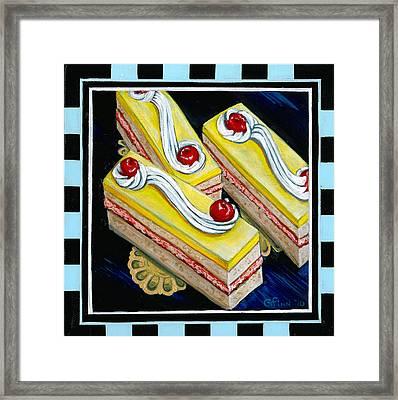 Lemon Bars With A Cherry On Top Framed Print