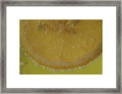 Lemon Bubbles Framed Print by Christine Amstutz