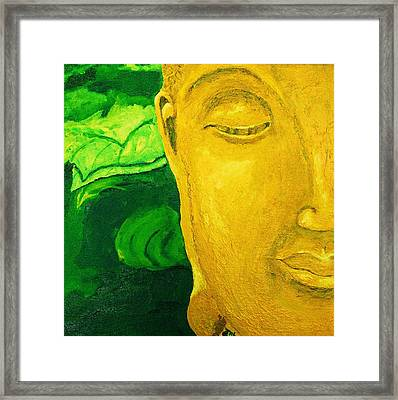 Lemon Buddha Framed Print
