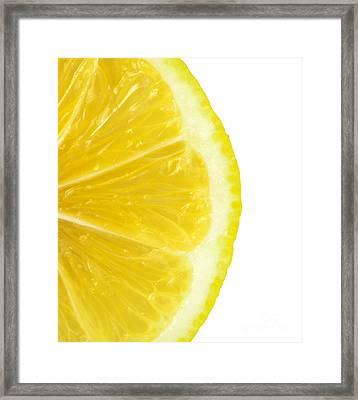 Lemon Close Up Framed Print by Deyan Georgiev