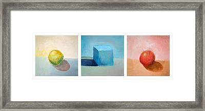 Lemon Cube Sphere Framed Print