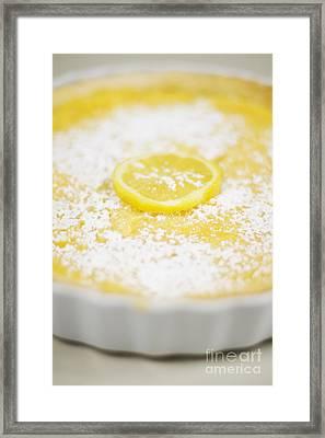 Lemon Curd Tart Framed Print