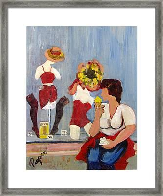 Lemon Eis Framed Print by Betty Pieper