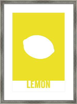 Lemon Food Art Minimalist Fruit Poster Series 012 Framed Print