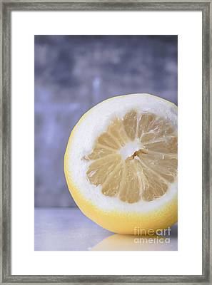 Lemon Half Framed Print by Edward Fielding