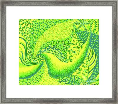 Framed Print featuring the drawing Lemon Lime by Kim Sy Ok