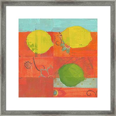 Lemon-lime Framed Print by Laurie Breen