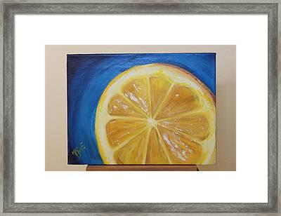 Lemon Framed Print by Matt Burke