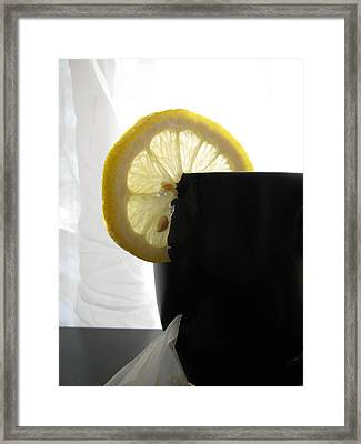Framed Print featuring the photograph Lemon Slice by Lindie Racz