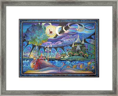 Lemon Slice Of The Moon Framed Print