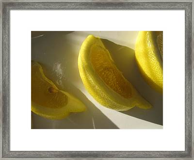 Framed Print featuring the photograph Lemon Slices by Lindie Racz