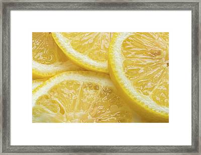 Lemon Slices Number 3 Framed Print by Steve Gadomski