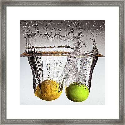Lemon Square Framed Print