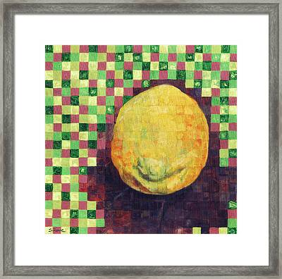 Framed Print featuring the painting Lemon Squares by Shawna Rowe