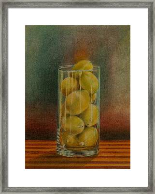 Lemon Stack Framed Print