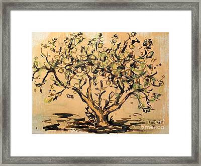 Framed Print featuring the painting Lemon Tree by Maria Langgle