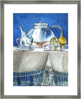 Lemon With Your Tea Framed Print
