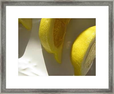Framed Print featuring the photograph Lemon Yellow by Lindie Racz