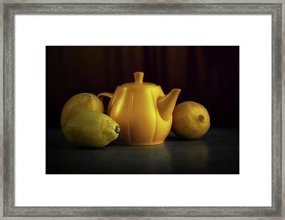 Lemon Yellow Framed Print