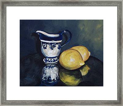 Lemons And Cream  Framed Print by Torrie Smiley