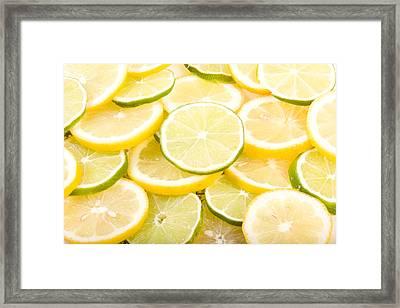 Lemons And Limes Abstract Framed Print