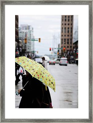 Framed Print featuring the photograph Lemons And Rubber Boots  by Empty Wall