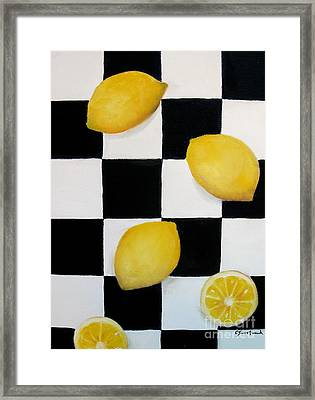 Lemons Framed Print by Carol Sweetwood