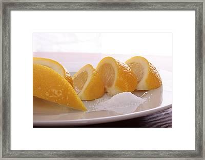 Lemons Framed Print by Christin Burrows